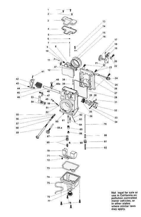 mikuni carburetor diagram mikuni carb diagram