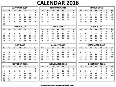 large printable yearly calendar 2016 large calendar to print calendar template 2016