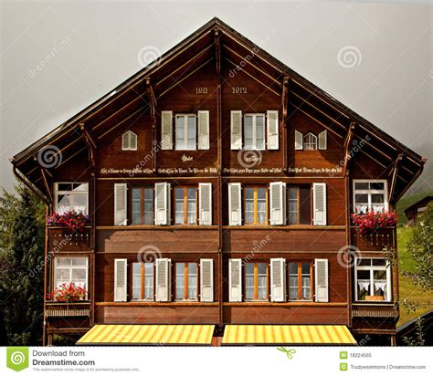 Window Boxes Plans - traditional swiss chalet royalty free stock photo image 18224565