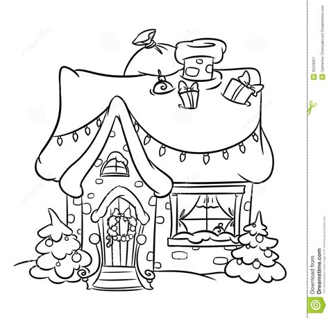 snow village coloring page christmas snow house painting and drawing pinterest
