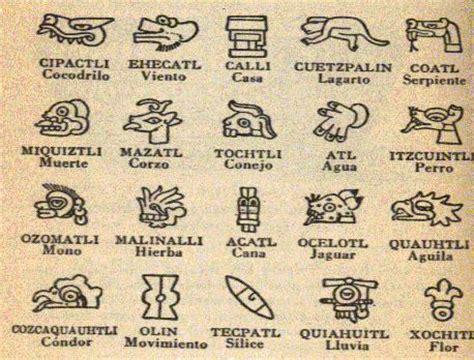 Calendario Azteca Significado De Sus Signos Historia M 233 Xico On Quot Los 20 Signos Mexicas Http