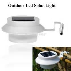 solar powered gutter lights 1pcs waterproof outdoor 3 led solar powered gutter light