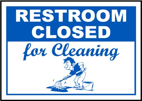 bathroom closed sign restroom closed cleaning sign by safetysign com r5341
