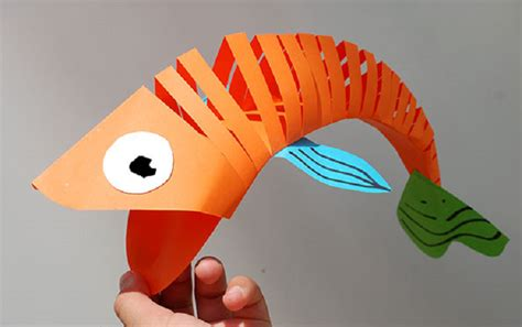 How To Make 3d Fish Out Of Paper - how to make a cool moving fish out of paper