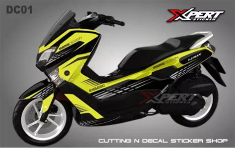 jual decal yamaha nmax full body grafis kuning hitam