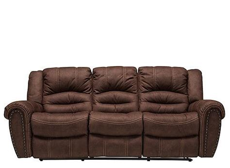 cole leather reclining sofa this cole microfiber reclining sofa in dark brown is a