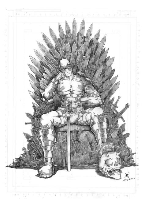 wallpaper deadpool game of thrones pencil deadpool and game of thrones fanart by filantrop on