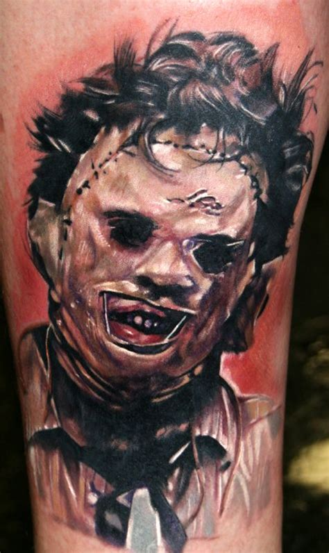 horror movie tattoos designs leatherface horror design chainsaw