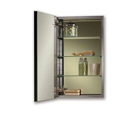 recessed medicine cabinet 15 x 25 shop jensen studio iv 15 in x 25 in rectangle surface