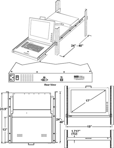 Cad Drawer by Rackmount Dvi Sun Usb Kvm Drawer Cad Drawing Engineering