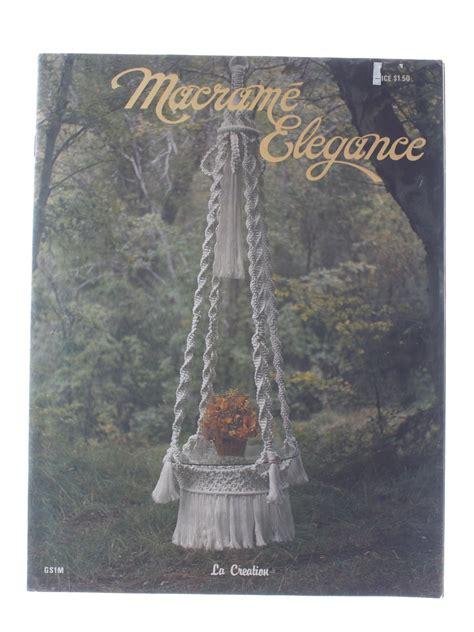 Macrame Books Free - vintage 1970 s sewing pattern 1976 macrame elegance