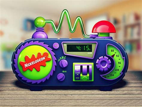 nickelodeon alarm clock icons illustrations