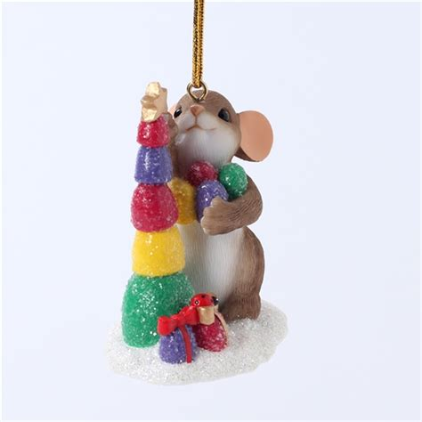 Charming Tails Ornaments - charming tails mouse stacking tree