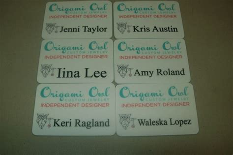 origami name tag 117 best origami owl and miche bag name badges images on