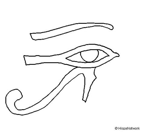 Eye Of Horus Coloring Page | eye of horus coloring page coloringcrew com