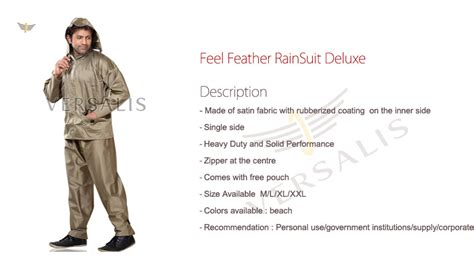 Feeling Feathery Today by Raincoats Versalis Tulsi Corporation