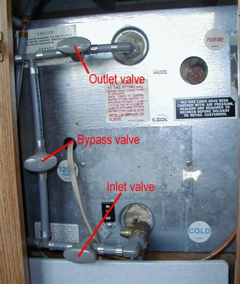 rv water heater bypass valve diagram water water everywhere