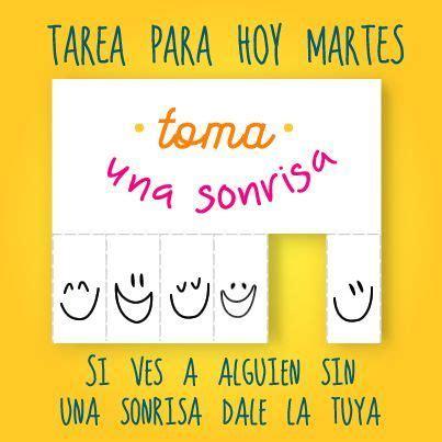 hoy es martes tarea para hoy martes frase sonrisa martes frases