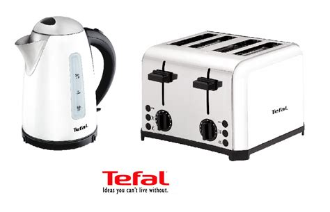 White 4 Slice Toaster And Kettle Set Tefal Inox 1 5 Litre Kettle And 4 Slice Toaster Breakfast