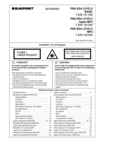 Blaupunkt Stockholm Rcm104 Service Manual Free Download