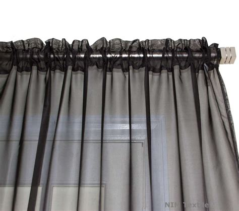 Black Sheer Curtains Black Sheer Voile Curtains