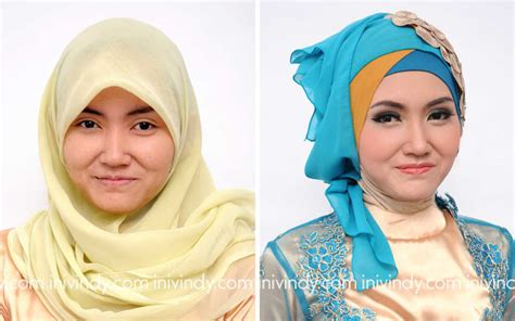 tutorial hijab pesta bahan tile ini vindy yang ajaib before after makeover wisuda hijab