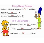 Possessive Adjectives With Simpsons