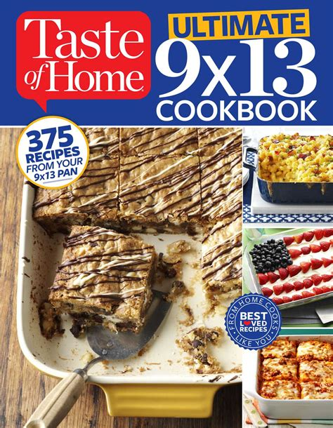 taste of home ultimate 9 x 13 cookbook book by taste of