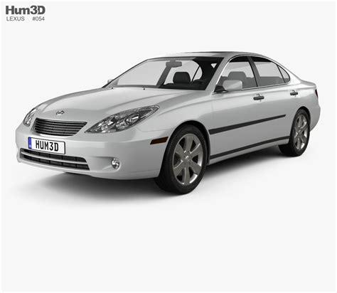 lexus models 2004 lexus es 2004 3d model hum3d
