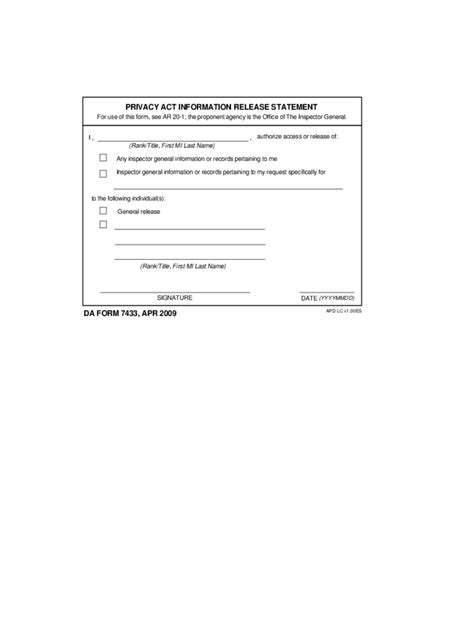 privacy release form template privacy act statement form 2 free templates in pdf word