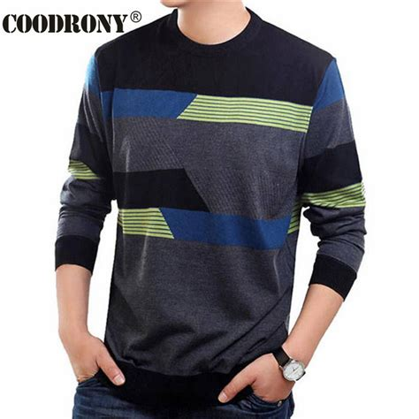 Sweater Cotton O Neck Pria 1 coodrony o neck sweater clothing mens sweaters wool