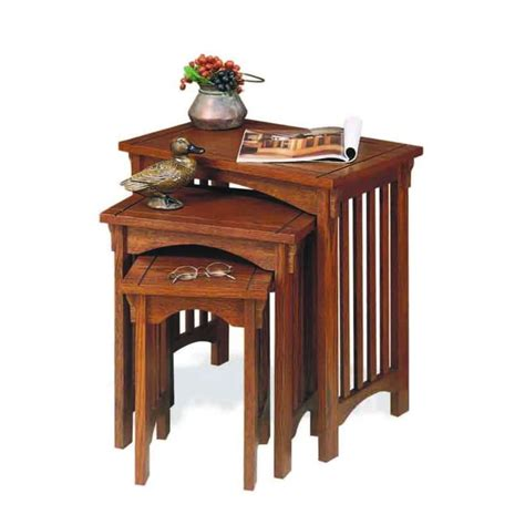 home decor collection home decorators collection mission oak nesting end table