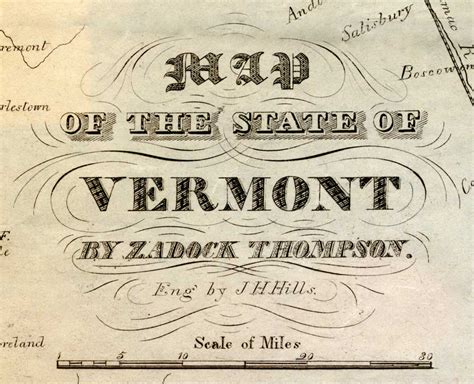 history of vermont books thomson s map of vermont 1842