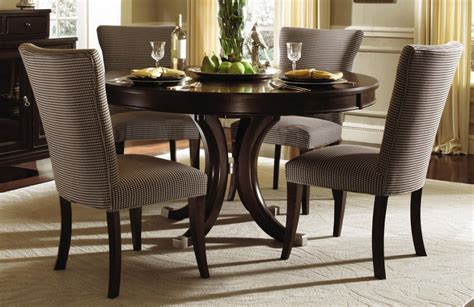 Circle Dining Room Table Sets Formal Dining Room Design With Espresso Finish Dinette Sets Brown White