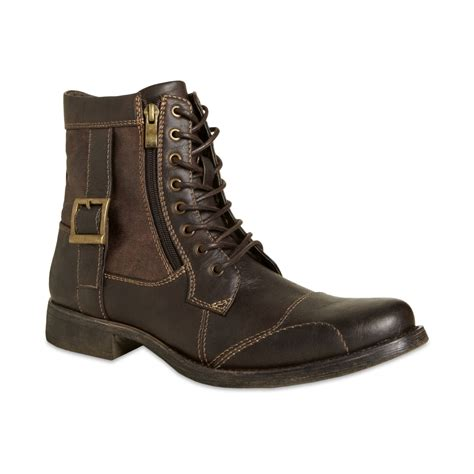 Steve Madden Shoes by Steve Madden Madden Mens Shoes Boston Zip Boots In Brown For Brown Lyst