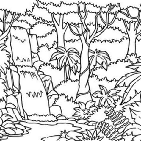 tropical landscape coloring page free coloring pages