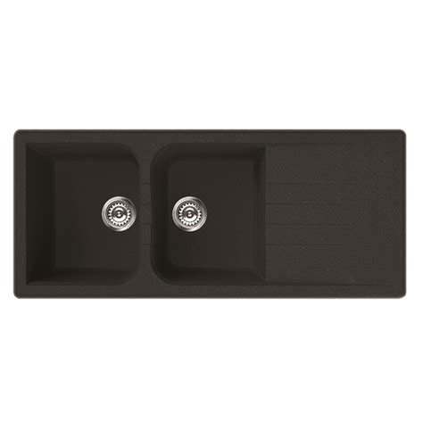 black bowl sink mondella black vivace drop in sink bowl with drainer