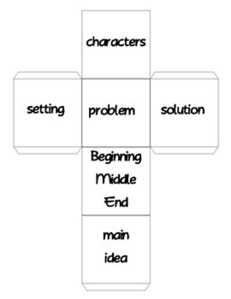 story cube template 52 best images about sequencing retelling on