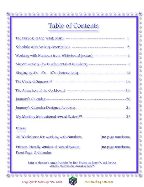 mla format table of contents template best photos of table of contents page exle exles