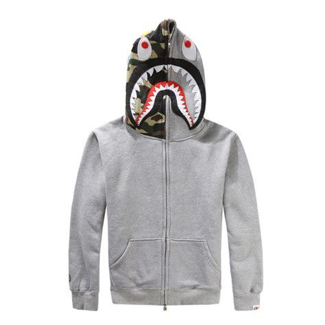 Sweater Jaket A Bathing Bape bape a bathing ape jacket shark zip hoodie