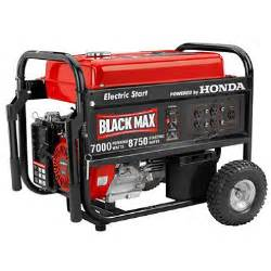 Honda Powered Generator Black Max 7 000 Watt Portable Gas Generator With Electric