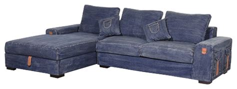 Denim Sectional Sofa Premier Denim Corner Storage Sofa Contemporary Sectional Sofas Other Metro By Saso