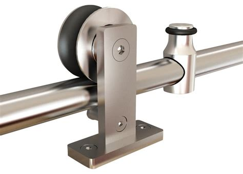 top mount stainless steel barn door hardware