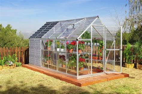 Backyard Greenhouse Grow And Store 6x12 Greenhouse With Storage Shed Hg5112
