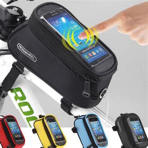 Bicycle Phone Holder 4 Penyanggah One Touch T0210 1 aliexpress buy roswheel cycling bike bicycle frame iphone holder panner mobile phone