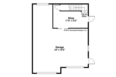 Garage Floor Plan by Traditional House Plans Garage W Shop 20 123