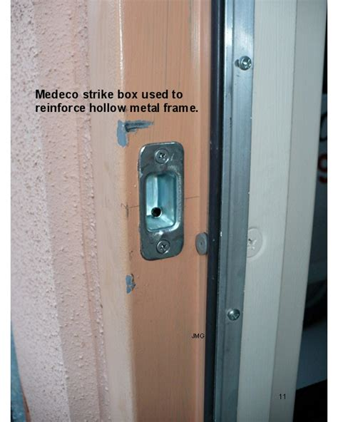 Install Deadbolt Metal Door reinforced door frame ktrdecor