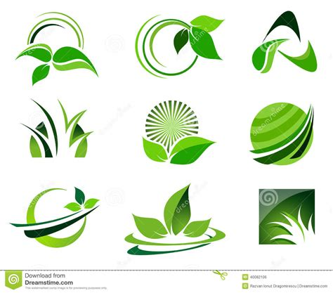 imagenes logos verdes logo set verde ilustra 231 227 o stock imagem de projeto criar