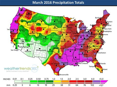 us precipitation forecast map march 2016 weather roundup weathertrends360
