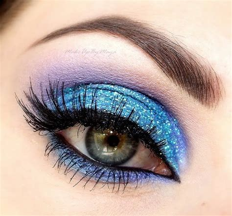 City Color Glimmer Glam Glitter Gel Eyeshadow blue purple eye spiration bold eye makeup glitter and purple makeup